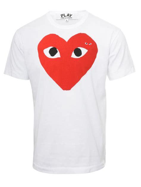 Tshirt Play comme des gar 231 ons play mens logo t shirt white