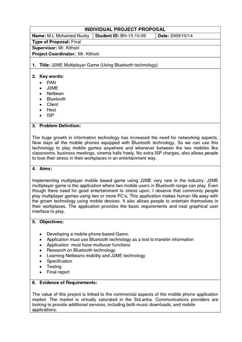 template business project plan best photos of project proposal format exle sle