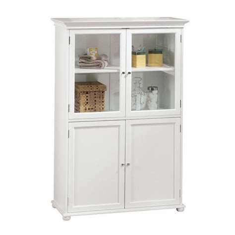 White Bathroom Storage Cabinets Home Decorators Collection Hton Harbor 36 In W X 14 In D X 52 1 2 In H Linen Cabinet In