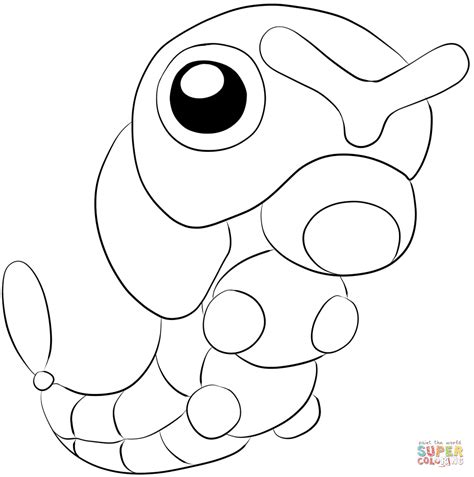 pokemon coloring pages caterpie caterpie coloring page free printable coloring pages