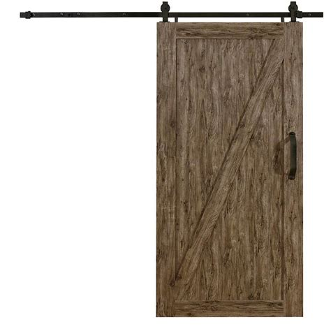 Pinecroft 42 In X 84 In Millbrooke Weathered Grey Z Vinyl Doors For Barns