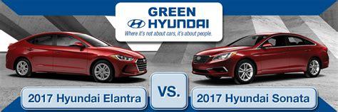 Hyundai Sonata Vs Elantra by 2017 Hyundai Elantra Vs 2017 Hyundai Sonata What Are