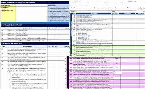 10 Risk Register Template Excel Exceltemplates Exceltemplates Gdpr Risk Assessment Template