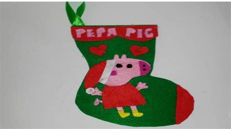 botas de papel para navidad botas de navidad de la peppa pig adornos navide 241 os