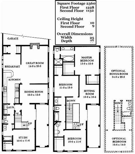 charleston floor plans charleston row house floor plan home design and style