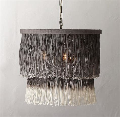 Ombre String - ombr 233 grey string tiered pendant