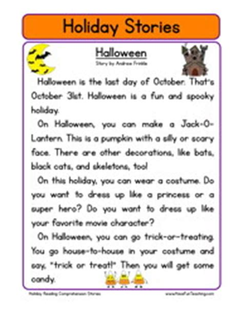 halloween story themes printable halloween stories festival collections