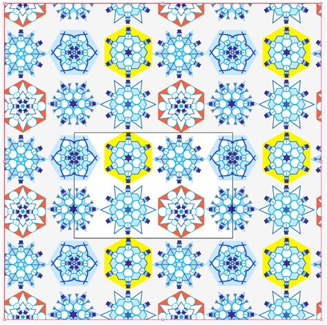 regex pattern repeat n times snowflakes and creating a half brick repeat in illustrator