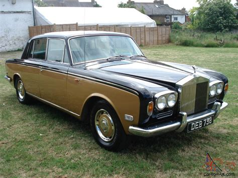 rolls royce gold and rolls royce 1971 in black and gold 1 owner from new