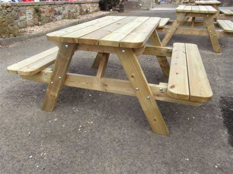 picnic table frames atholl chunky 6 quot a quot frame picnic table