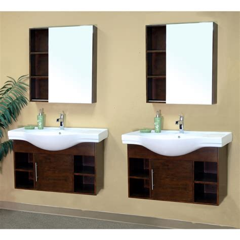 80 Inch Bathroom Vanity 80 Inch Sink Bathroom Vanity In Medium Walnut Uvbh203132d80