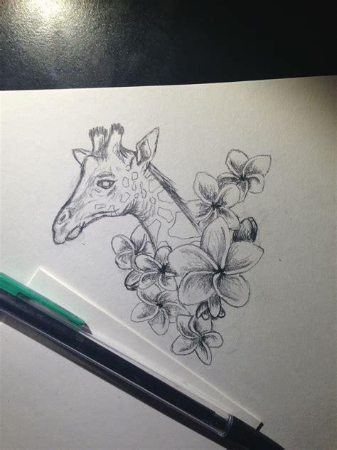 kinkos tattoo paper giraffe tattoo make the flowers lillies and it d be