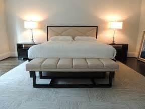 foot of bed bench bedroom decor ideas for a sleek space