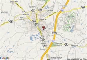 newnan map map of hton inn atlanta newnan newnan