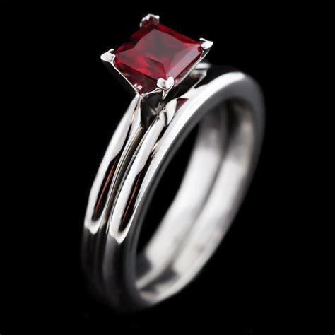 lab created gemstones ruby engagement rings miadonna