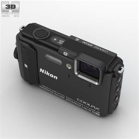 nikon coolpix models nikon coolpix aw130 black 3d model hum3d