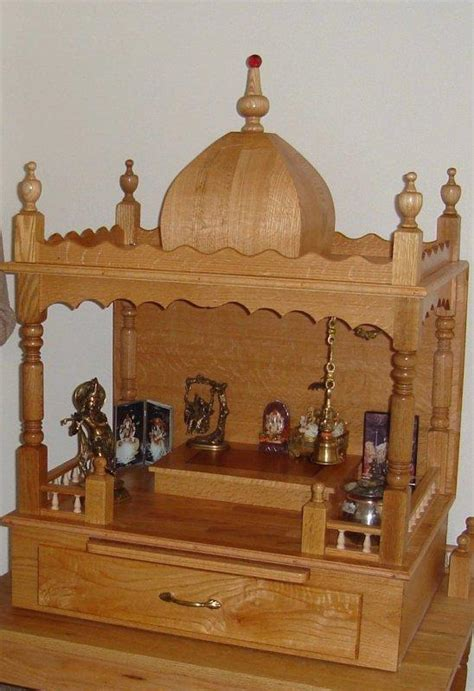 wooden mandir diy and home decor room