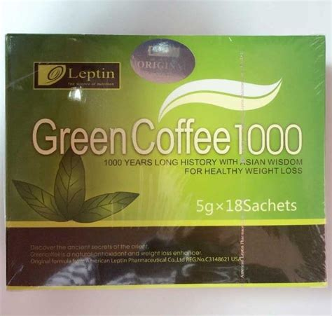 Coffee Green 1000 1box 18bags free shipping weight loss green coffee 1000