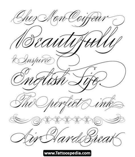 1000 ideas about tattoo fonts cursive on pinterest