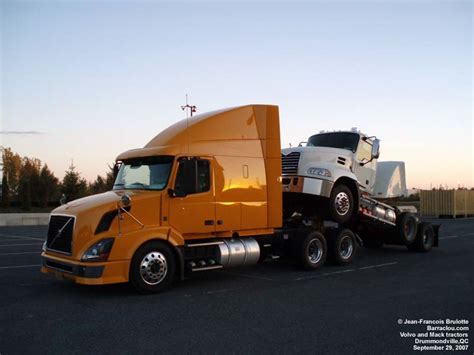volvo and mack trucks mack in the middle