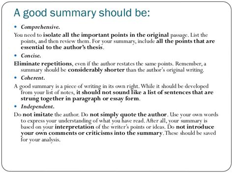 what should be in the summary of a resume writing a summary material from towards proficiency oup