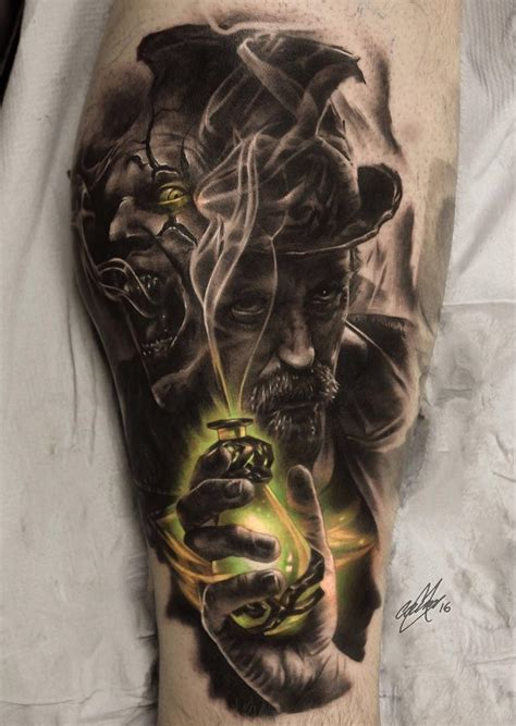 dr jekyll and mr hyde mens calf piece best tattoo