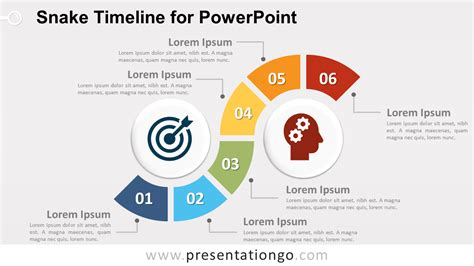 Snake Timeline Diagram For Powerpoint Presentationgo Com Powerpoint Templates Size Of Slides