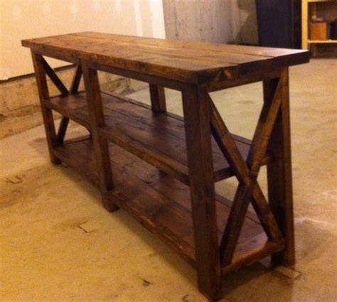 rustic sofa table plans ana white rustic x console diy projects