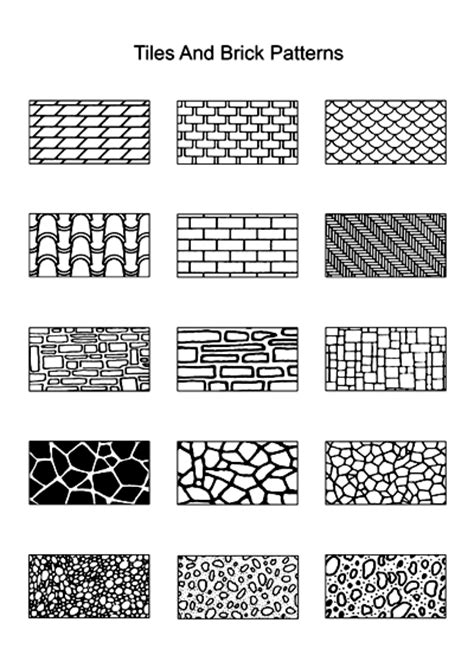 tile pattern dwg quot draw quot your own texture sheets using these tile and brick