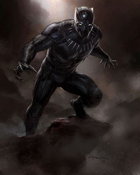 black panther marvel unused black panther concept art by andy park comics