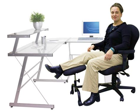 elevate leg at desk footrests ergoup double leg and foot rest