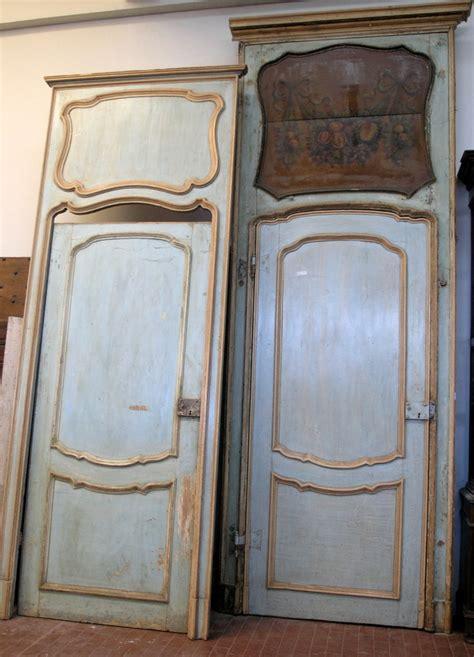 porte antiche laccate ptl225 nr 4 porte laccate con sovraporta dipinto
