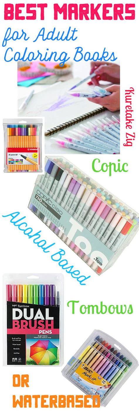 best coloring markers best markers for coloring books based