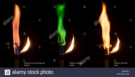colored flames different colored flames of burning salts potassium