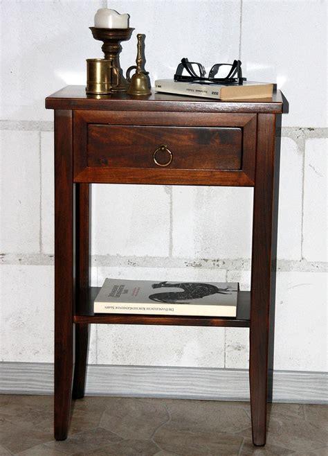 nachtkonsole 60 cm hoch nachttisch nachtkonsole beistelltisch telefontisch massiv