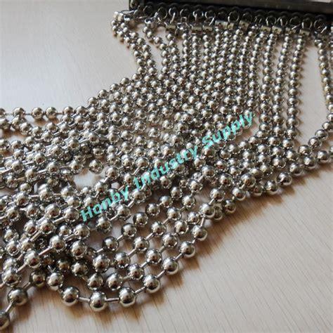 customized silver metal bead window blinds curtain buy