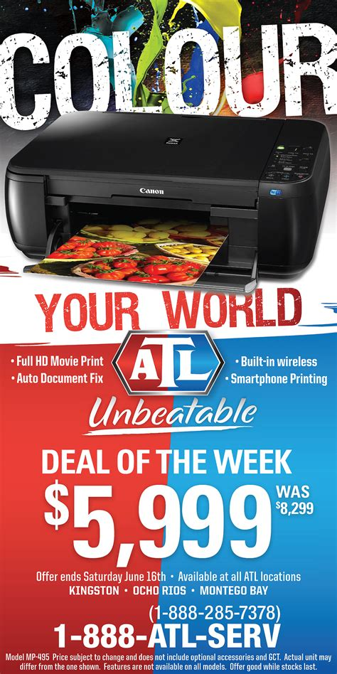 Deal Of The Week 20 At Max And by Deal Of The Week Canon Pixma Wireless Printer Atl Jamaica