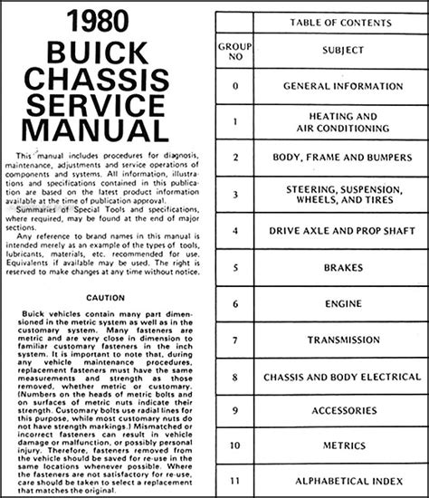 car engine repair manual 2001 buick century auto manual 1980 buick repair shop manual riviera skyhawk century regal lesabre electra