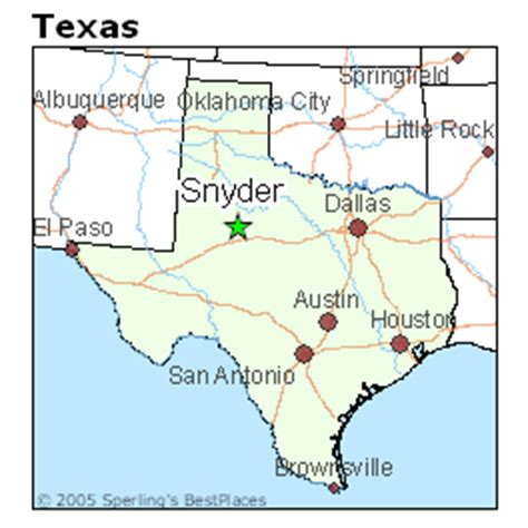 snyder texas map best places to live in snyder texas