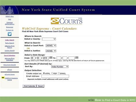 Webcivil Supreme Search 3 Ways To Find A Court Date In Nyc Wikihow