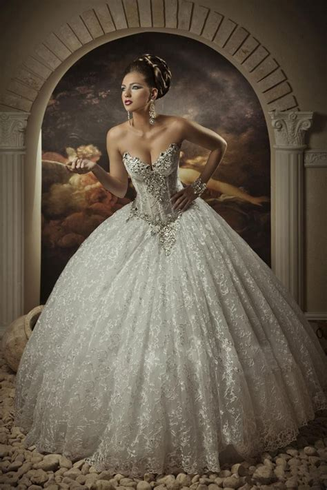 Brautkleider Ballkleid by Arabic Bridal Gowns Sweetheart Lace Princess Gown