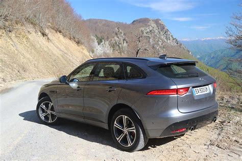 jaguar f pace grey 2017 jaguar f pace rear 3 4 grey on road 2017 jaguar f