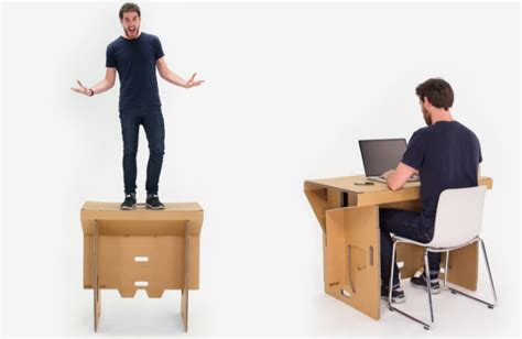 Refolds Portable Cardboard Standing Desk Will Let You Work Of Manliness Standing Desk