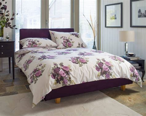 Flower Bed Sets Purple Flower Duvet Cover Sweetgalas