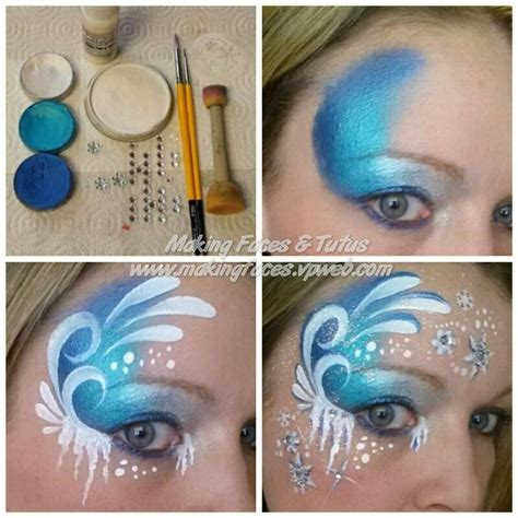 watercolor tutorial face 2014 halloween frozen face paint tutorial for girls elsa