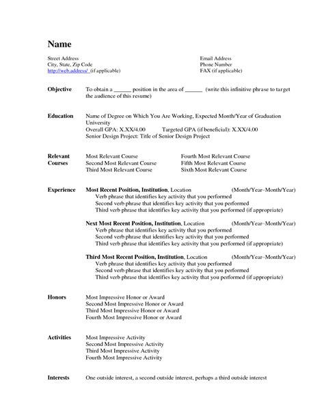 Create Resume Format by Create Resume In Word Resume Ideas