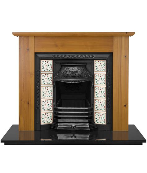 Tiled Fireplace Insert by Laurel Tiled Fireplace Insert Pendragon Fireplaces