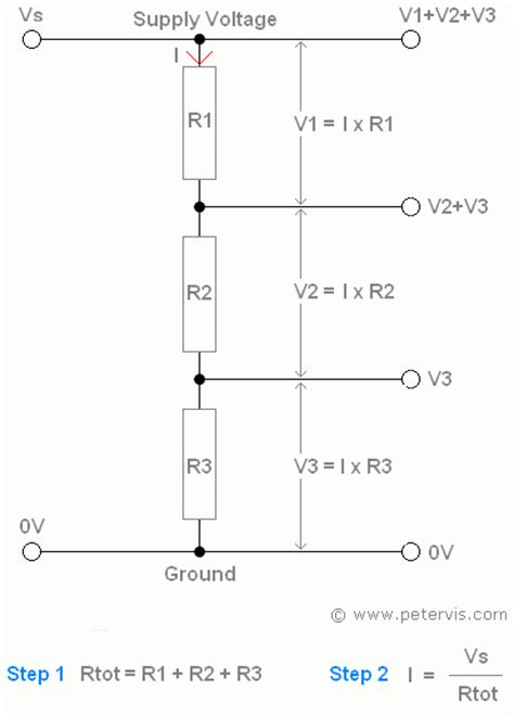 resistor in voltage divider potential divider