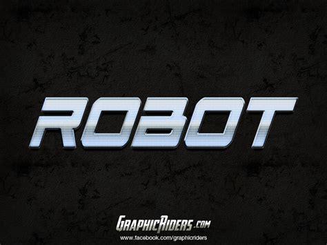 graphicriders metal style robot