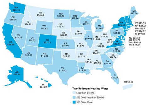 states with low cost of living report average rent needed for one bedroom apartment more